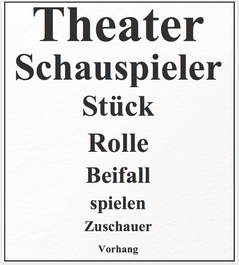 Topic Model zum Thema Theater