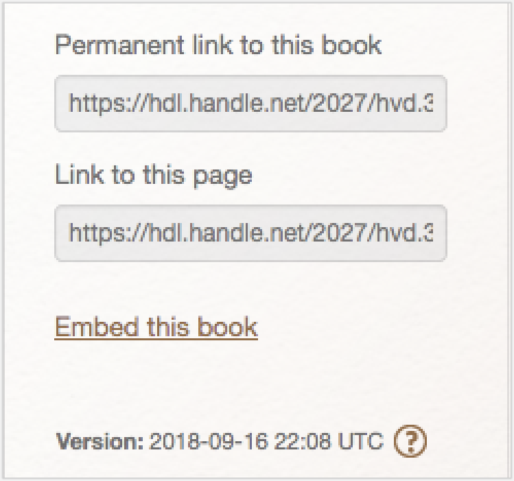Erstellen eines permanenten Links in der HathiTrust Digital Library