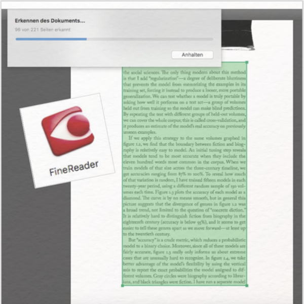 Abbyy FineReader: kommerzielle OCR-Software