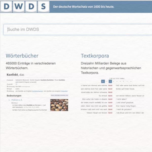 DWDS Digitales Wörterbuch der Deutschen Sprache