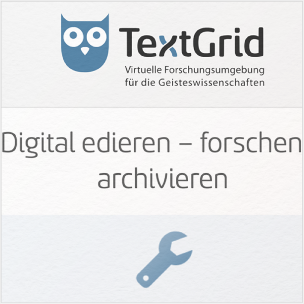 Screenshot der TextGrid-Website