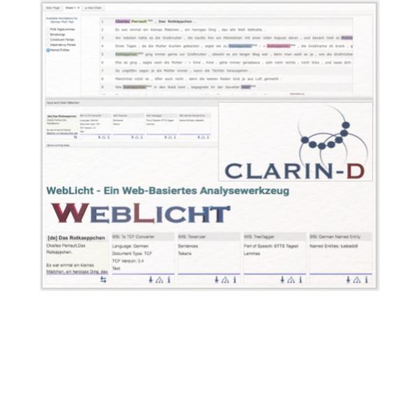 WebLicht ist eine Toolsuite, mit der Texte für die digitale Analyse vorbereitet werden können.
